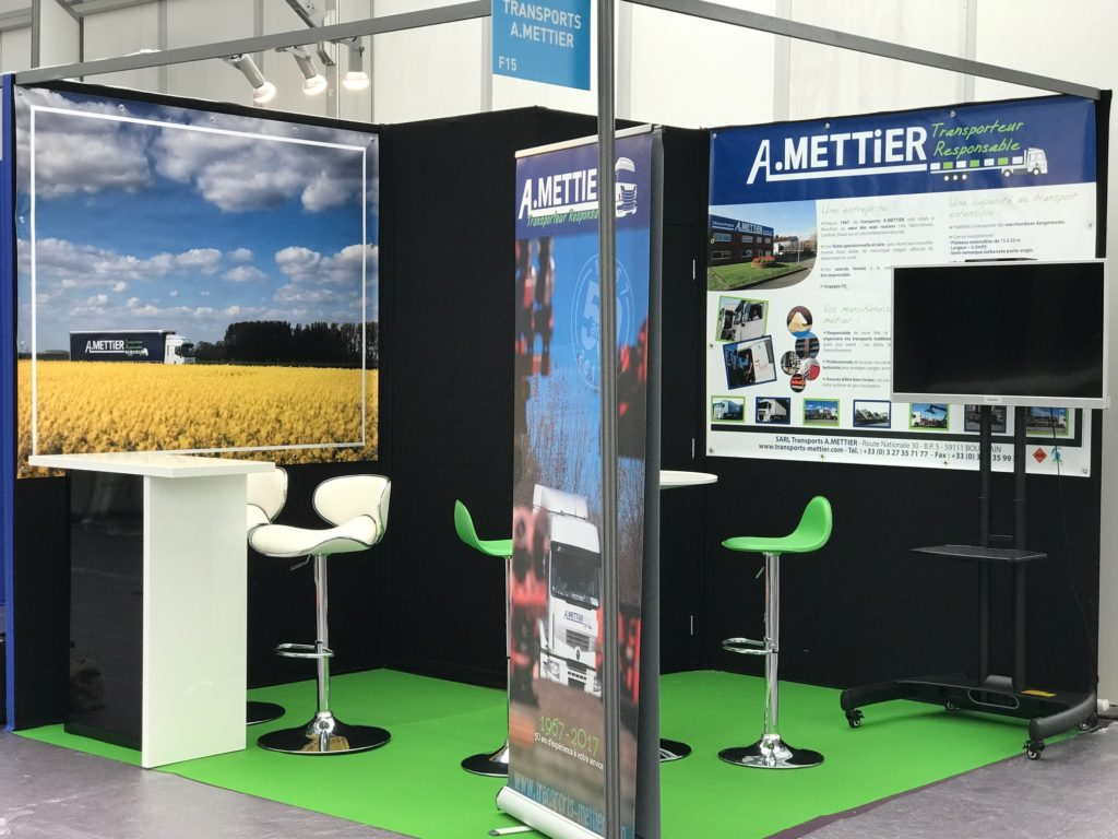 Le stand Transports A.Mettier au salon Made in Hainaut